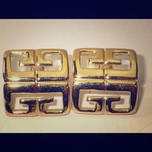 Givenchy good toned logo earrings